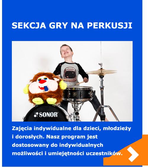 sekcja gry na perkusji